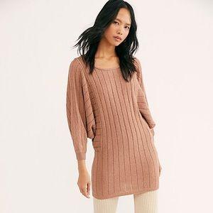 NWT FP beach knit mini dress